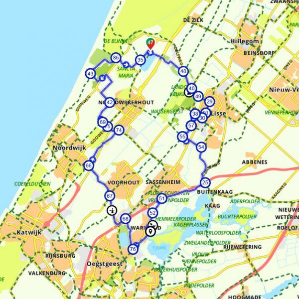 route-schoolreisje-fiets-bollenstreek