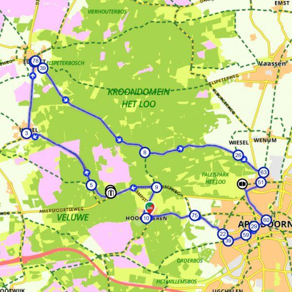 Route-fietsschoolreisje-paleis-het-loo
